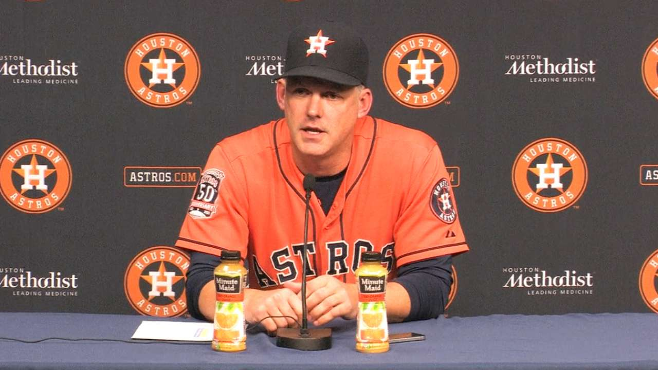 Hinch on Fiers' no-hitter