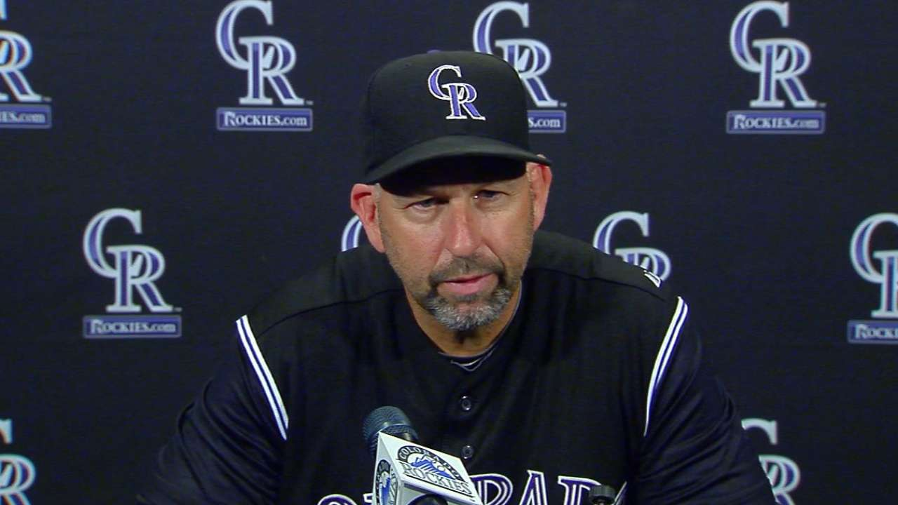 Weiss on Rockies' 14-9 loss