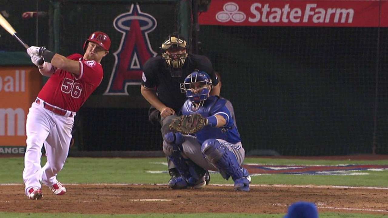 Angels back to leading with Kole-Trout-Pujols