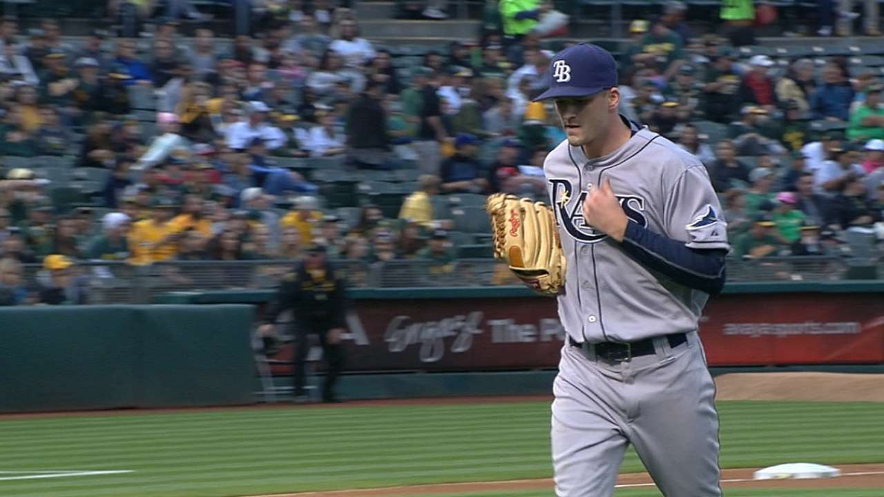 Smyly stymies A's to earn first win in '15