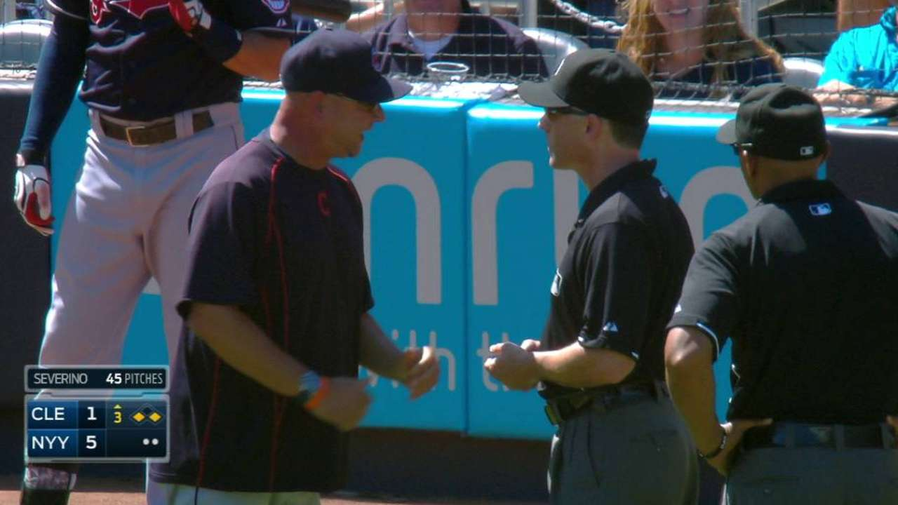 Francona tossed after 'neighborhood play' goes against Tribe