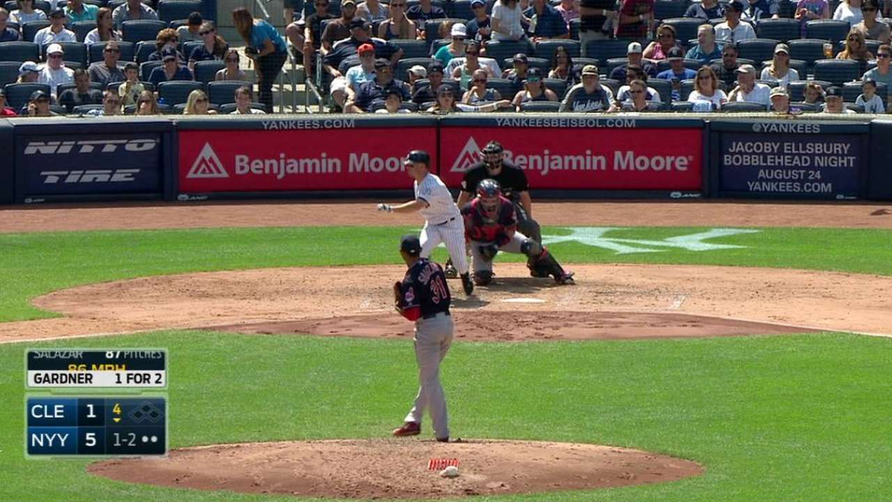 Salazar strikes out the side