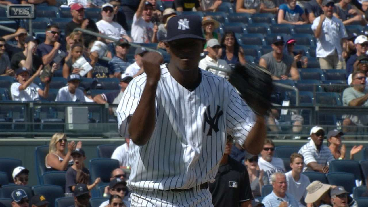 Severino's first career win
