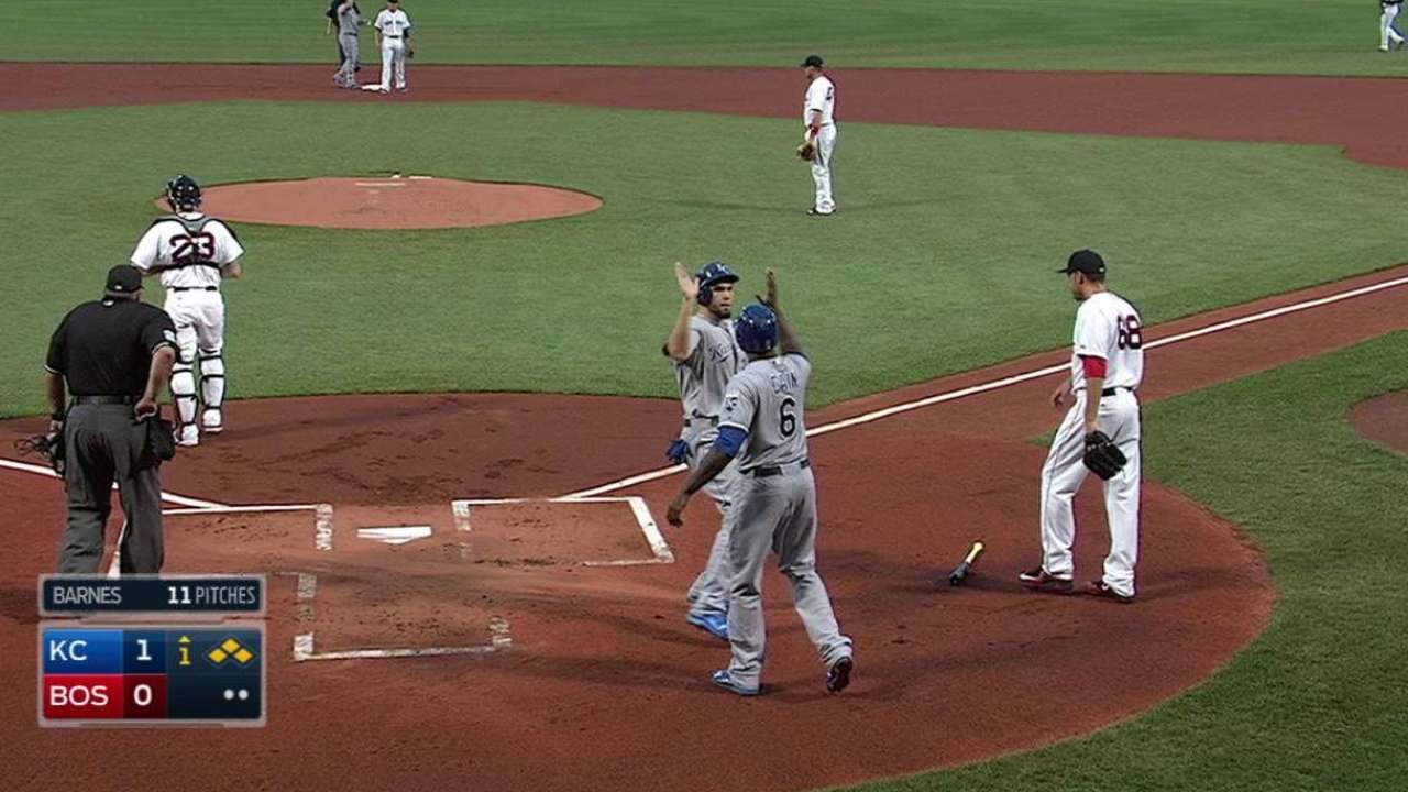 K. Morales' two-run double