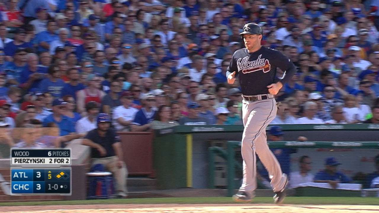 The Braves' five-run 5th inning