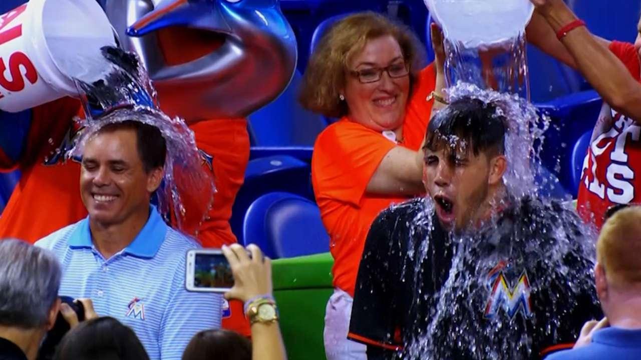 Jose part of Marlins' Ice Bucket Challenge