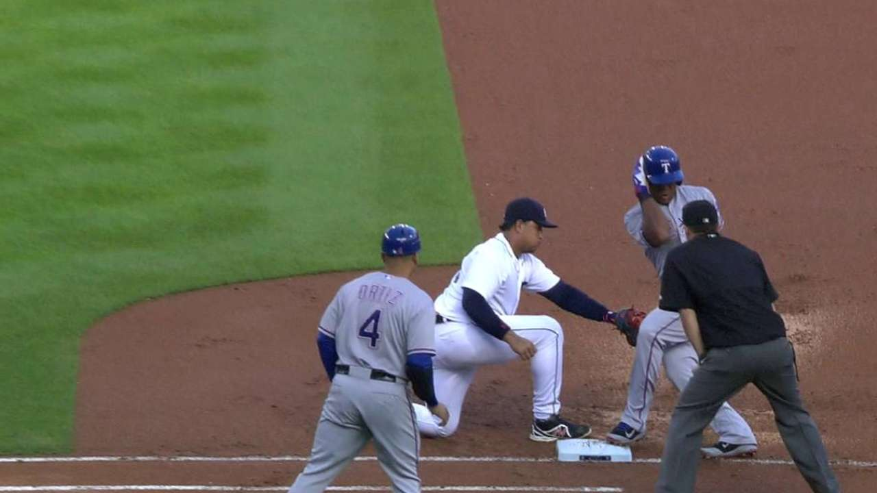 Wolf nabs Beltre at first