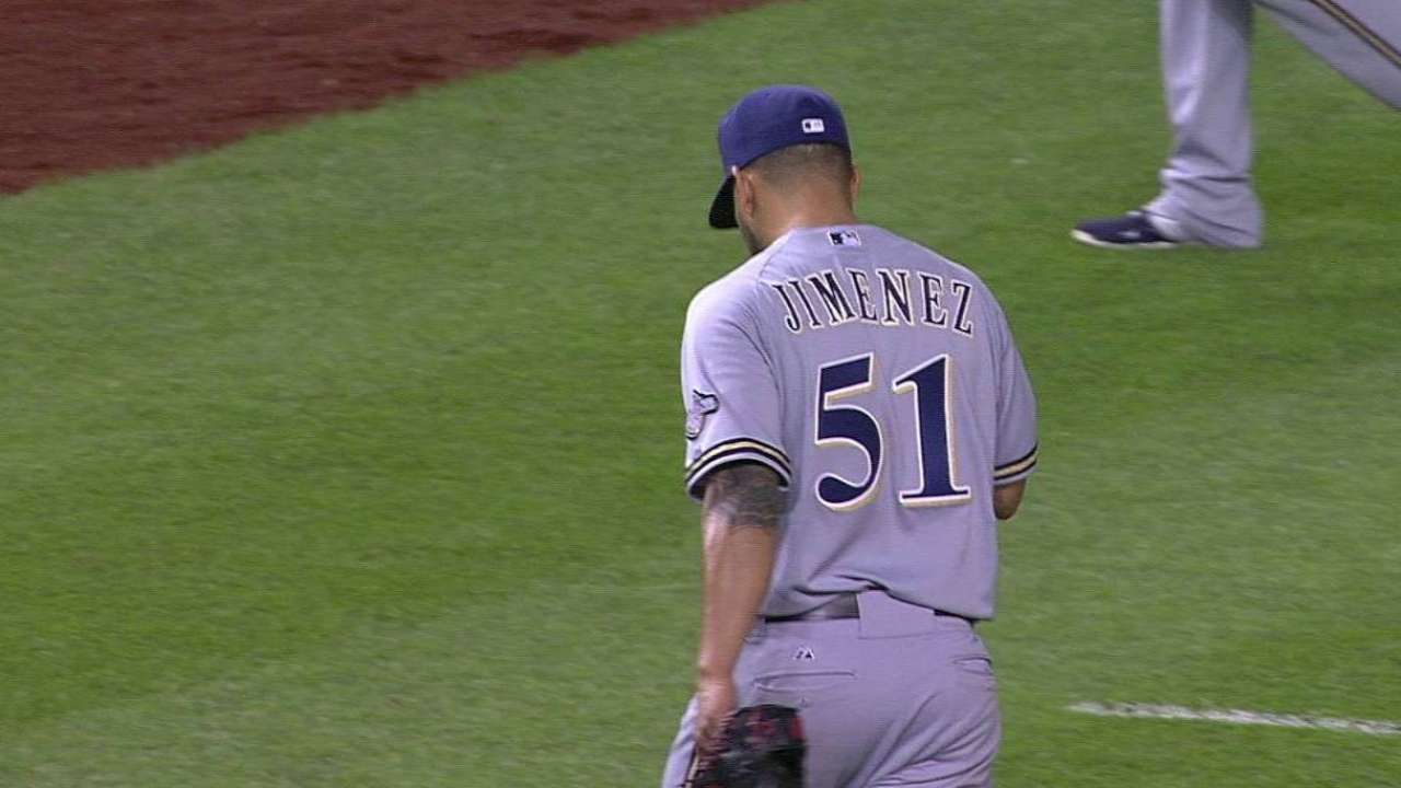 Jimenez an experienced lefty addition to 'pen