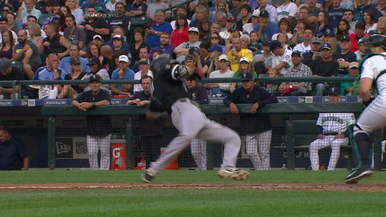 Eaton hit by pitch, call stands