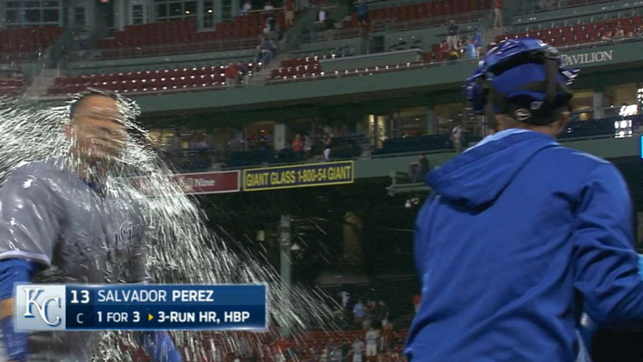 Perez on his homer, Royals' win