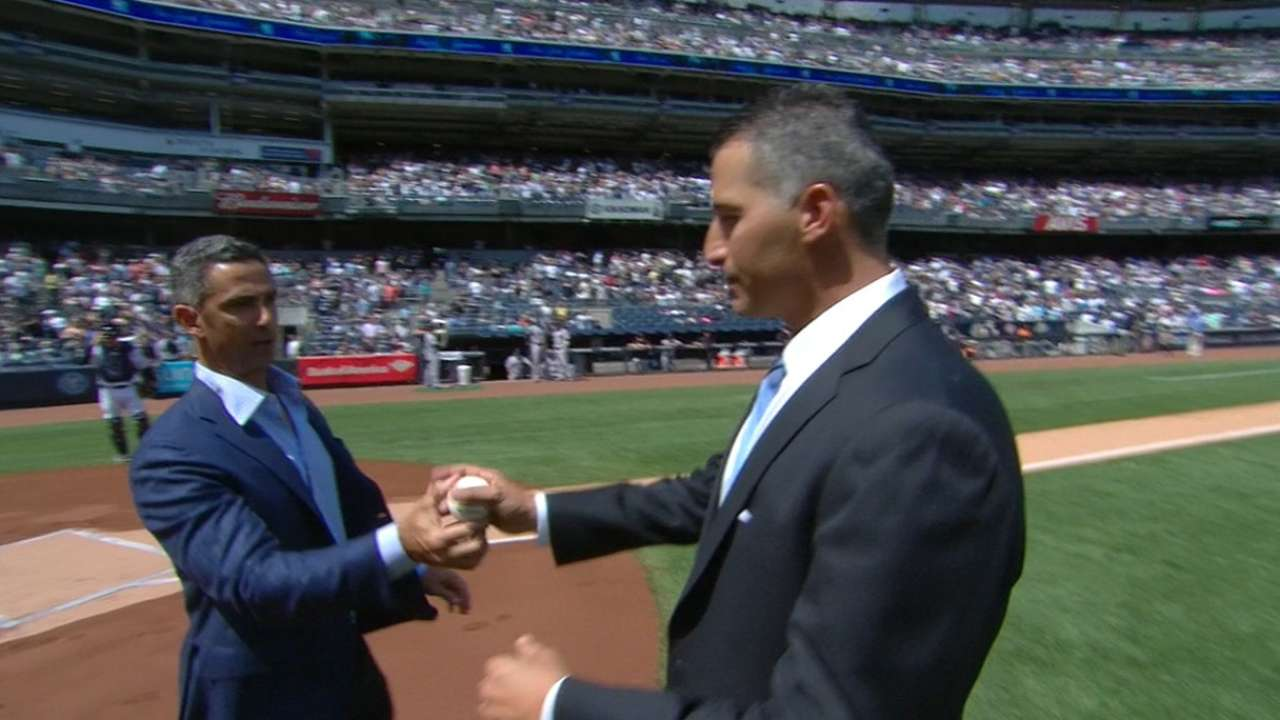 Andy Pettitte's first pitch