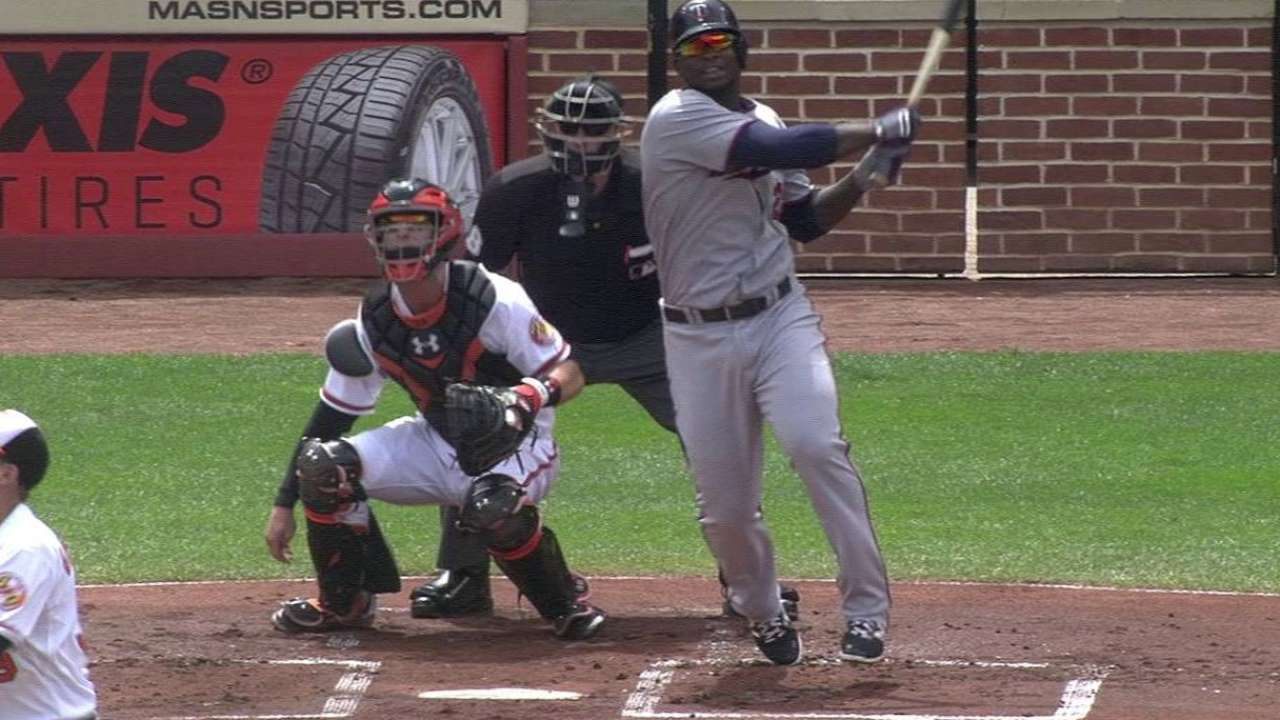 Sano's two-run homer