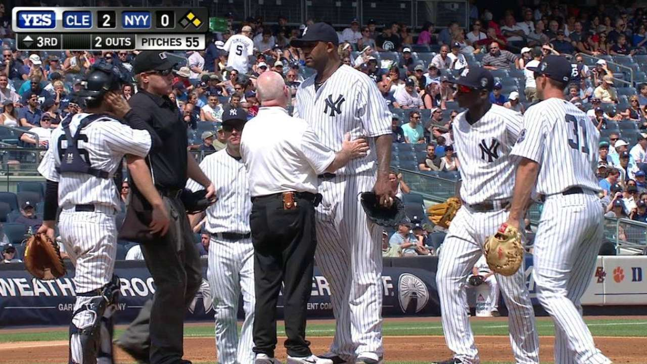 Sabathia to DL; 'possibility' season is over