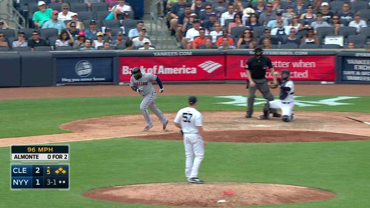 Almonte's bases-loaded walk