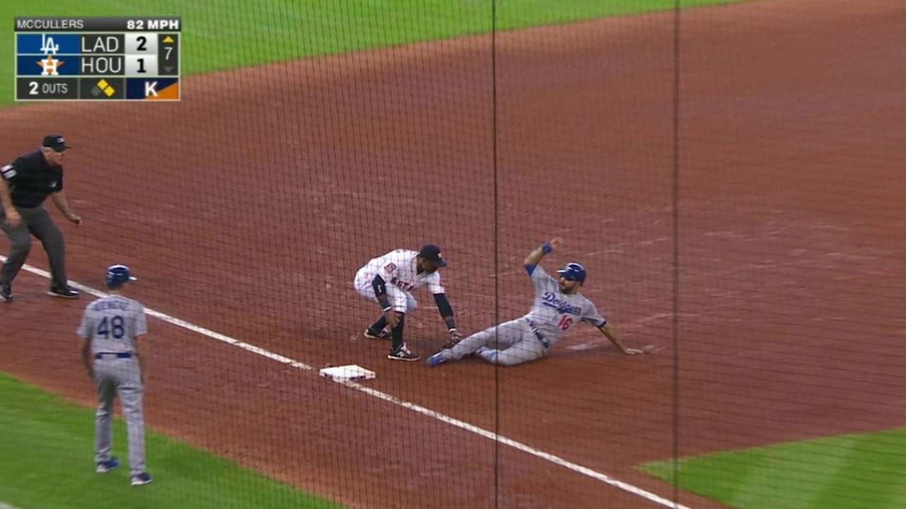 Castro catches Ethier stealing