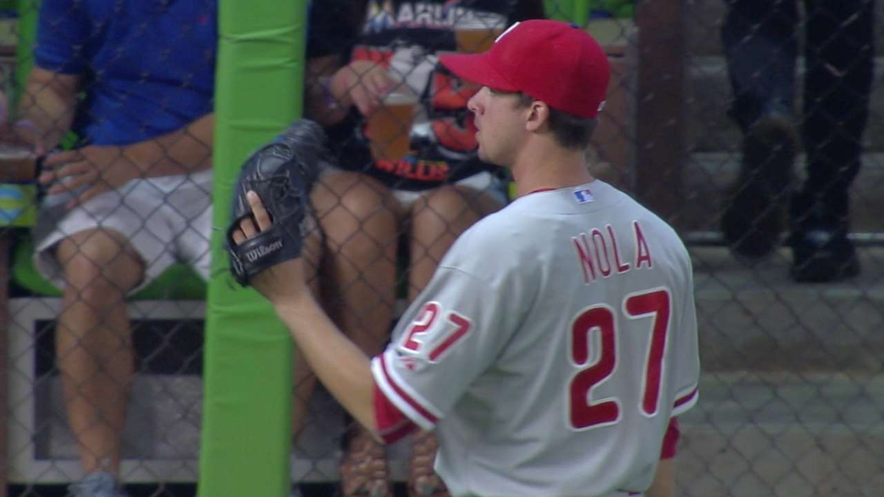 Nola in complete control in career-best outing