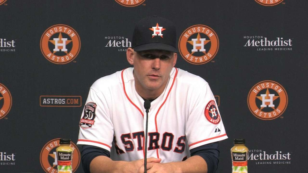 Hinch on sweep of Dodgers