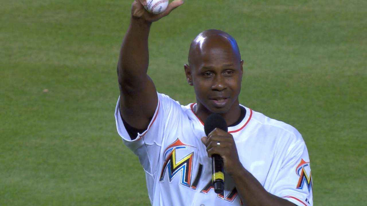 Good friends Pierre, Willis honored by Marlins