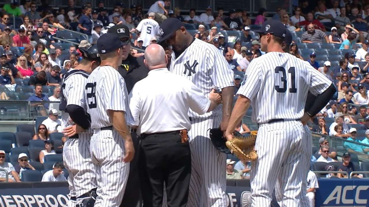 Girardi on Sabathia's injury