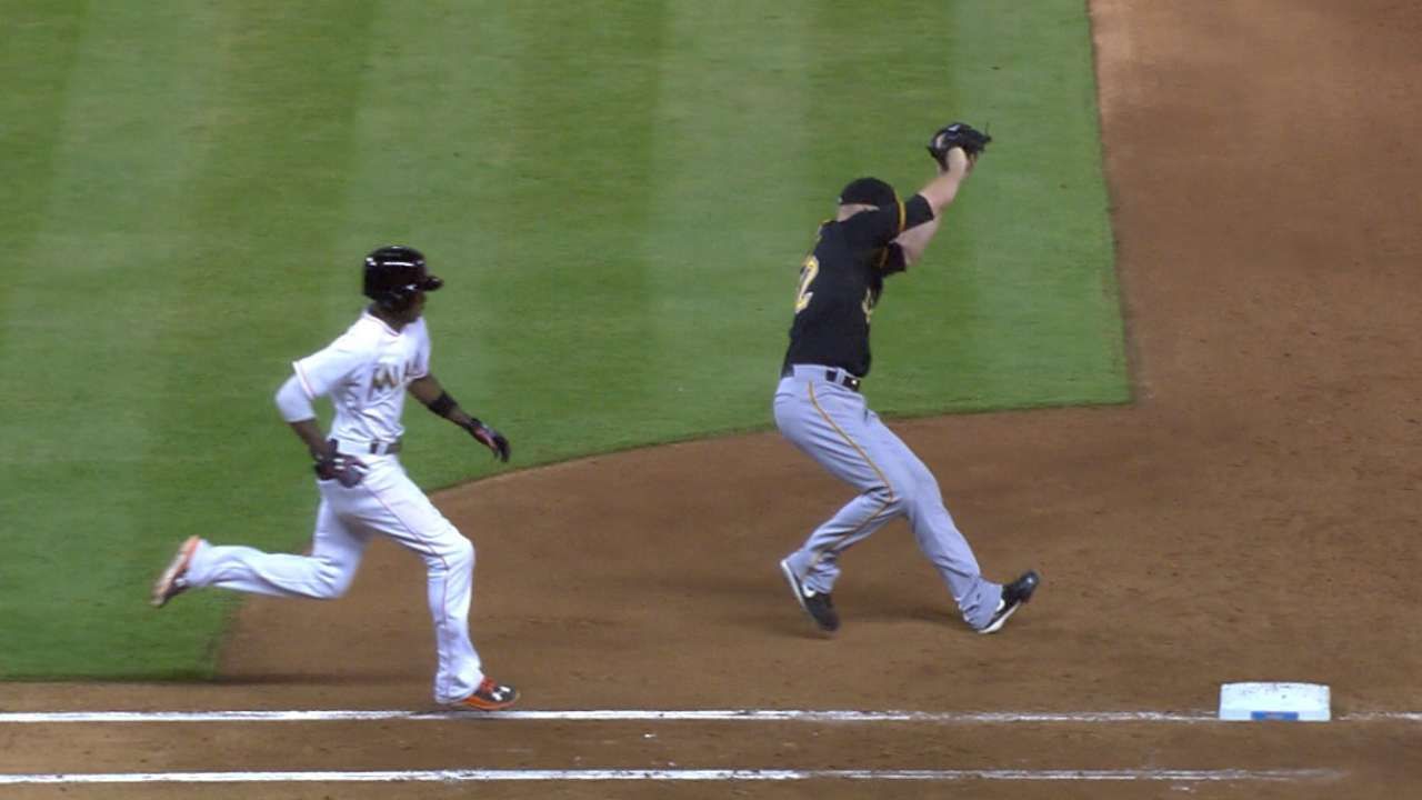 Pirates down Marlins behind strong Happ