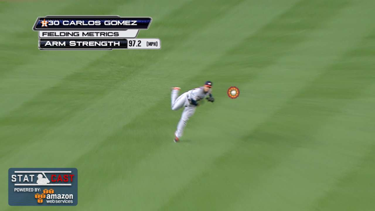 Gomez, Conger hook up for key DP vs. Yanks