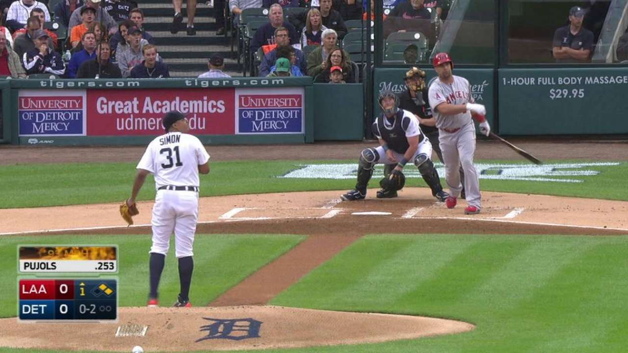 Angels hold off Tigers' charge in slugfest