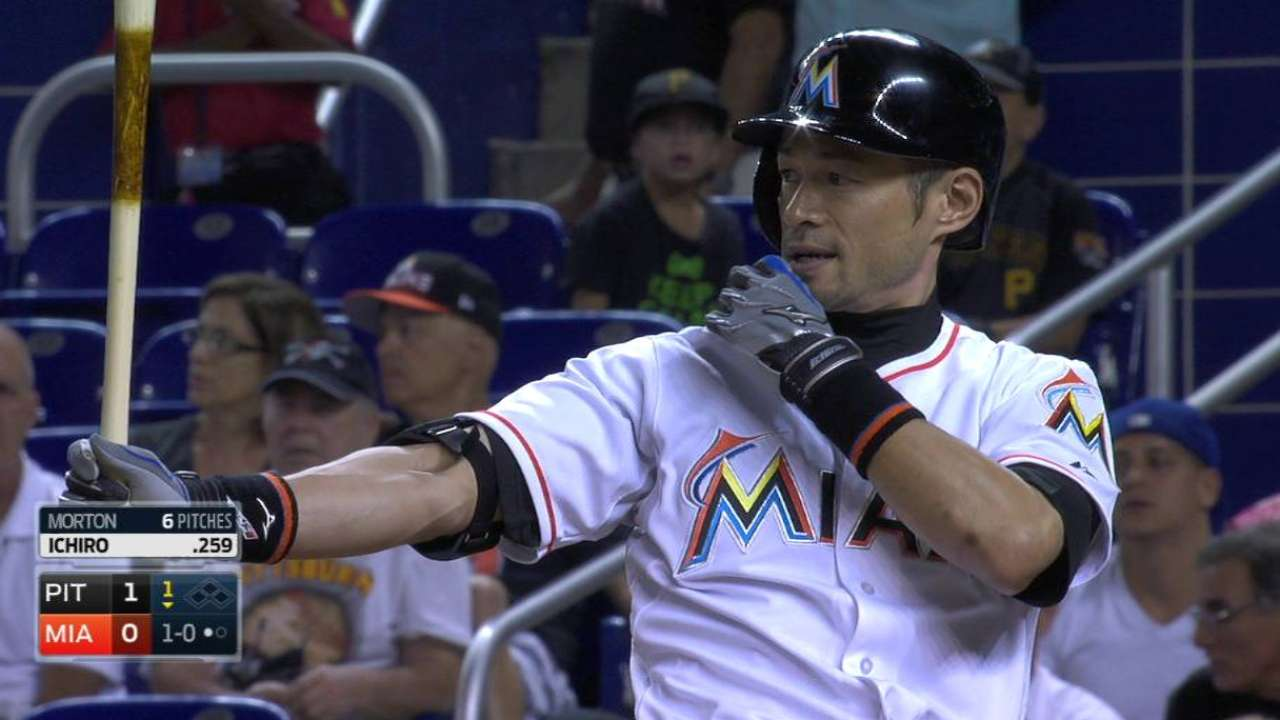 Ichiro 2nd-fastest to reach 10,000 plate appearances