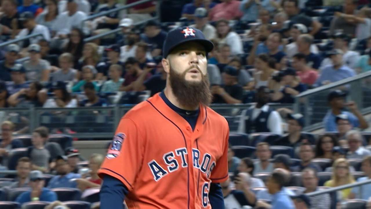 Keuchel wins 3rd AL Pitcher of Month this year