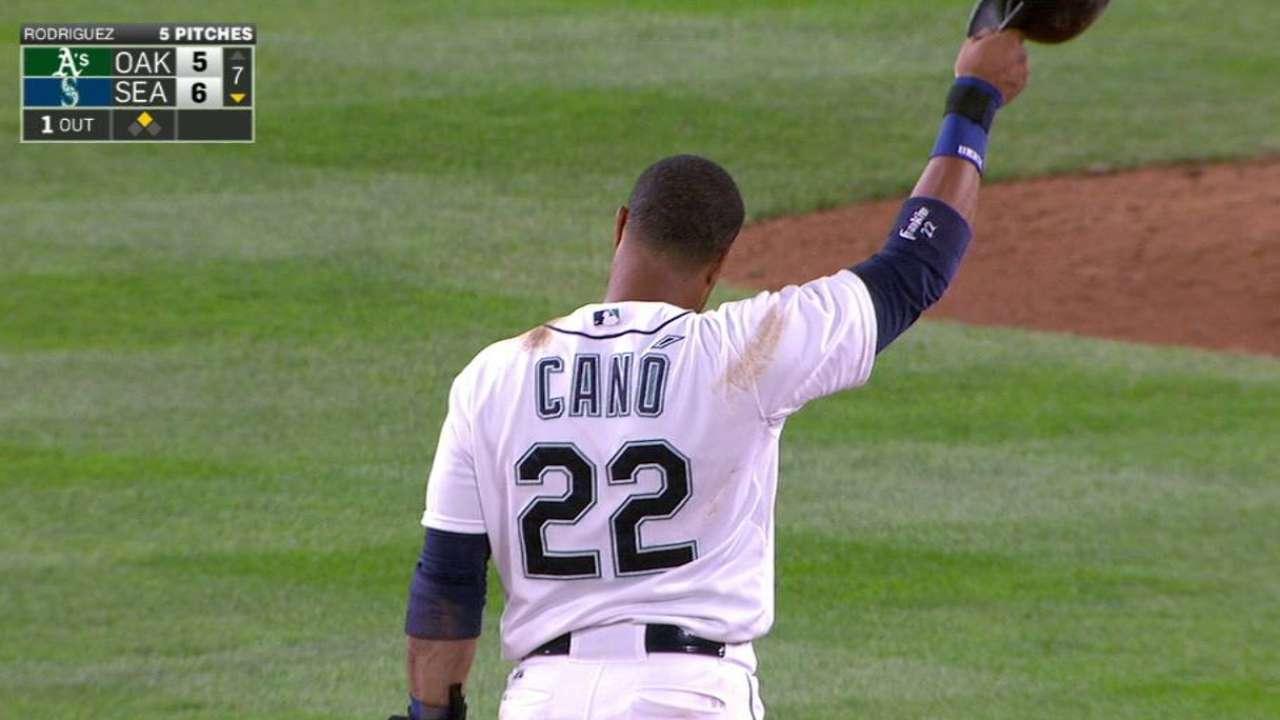 Cano's milestone double