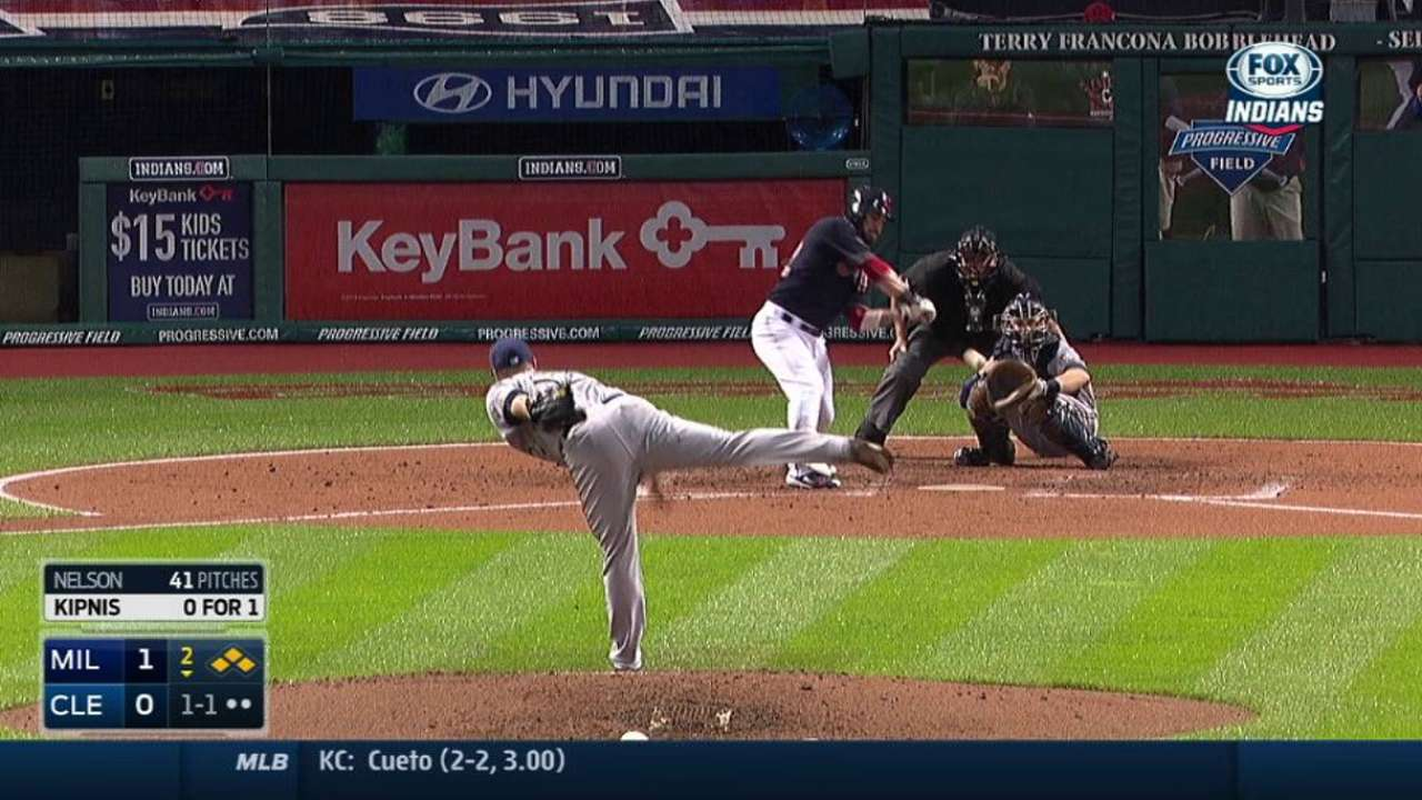Kipnis leads Tribe to series win over Crew