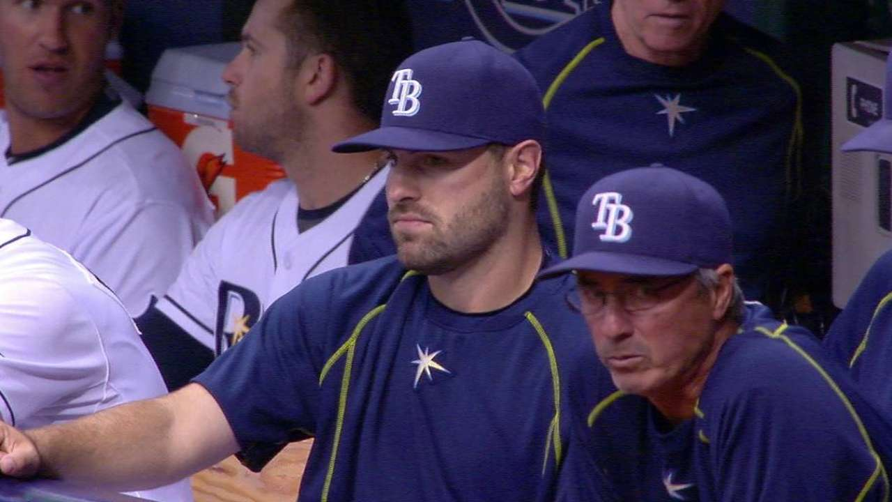 Rays place Casali on DL, promote Arencibia
