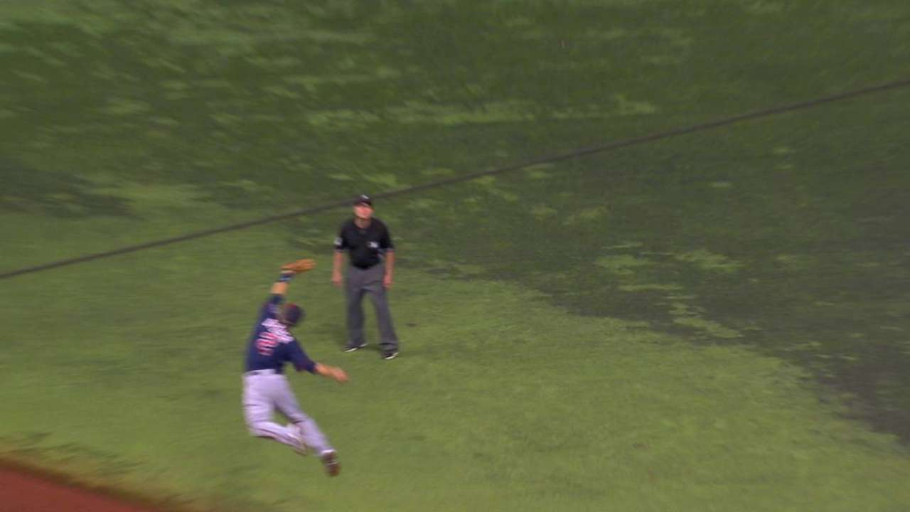 Dozier's leaping grab