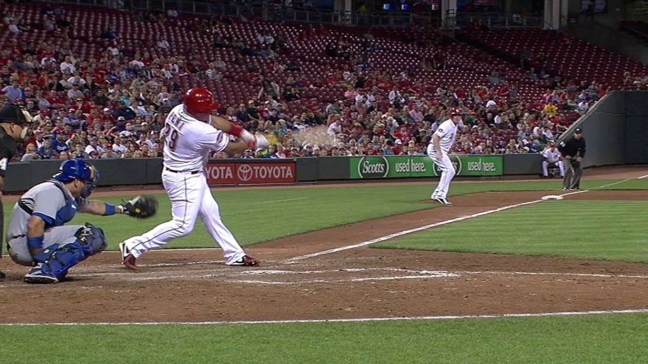 Pena's two-run single