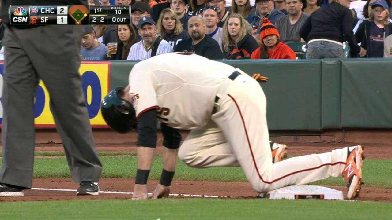 Duffy sprains ankle