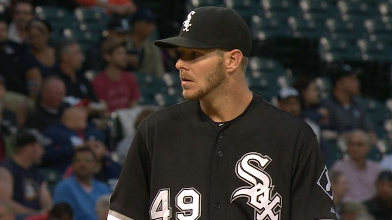 Sale sharp over 7, but bats fall silent in finale