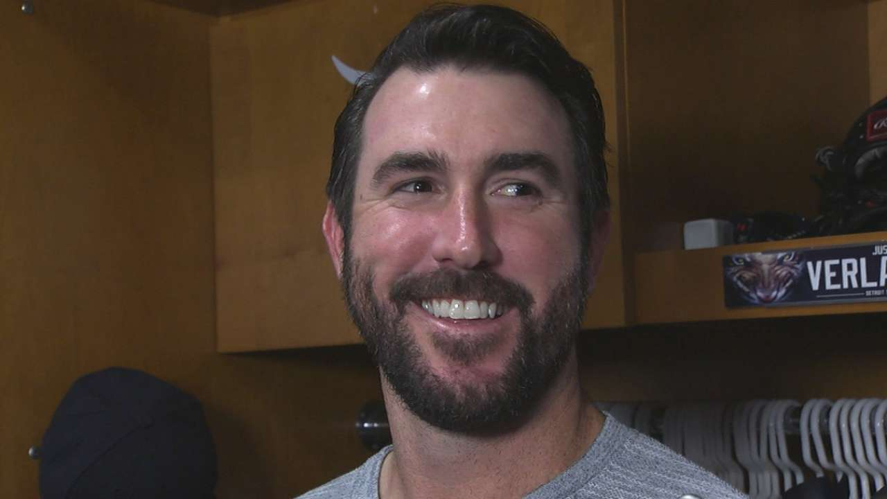 Verlander on giving up hit