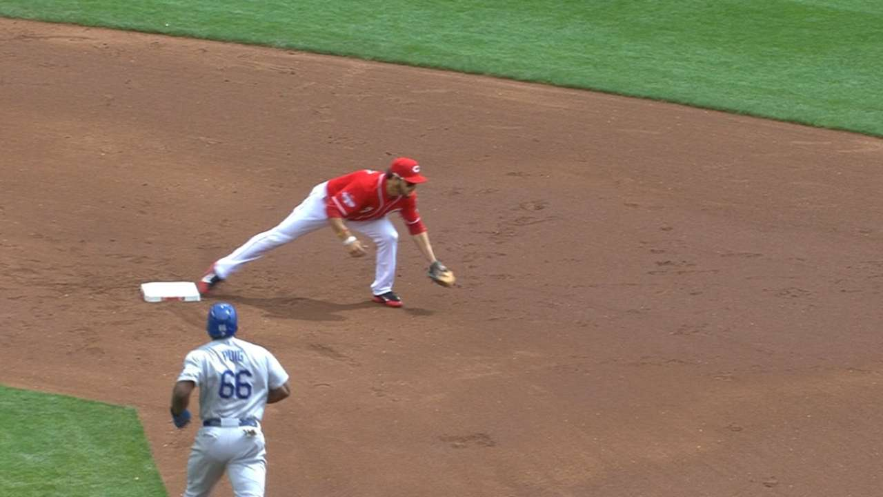 Reds turn five double plays