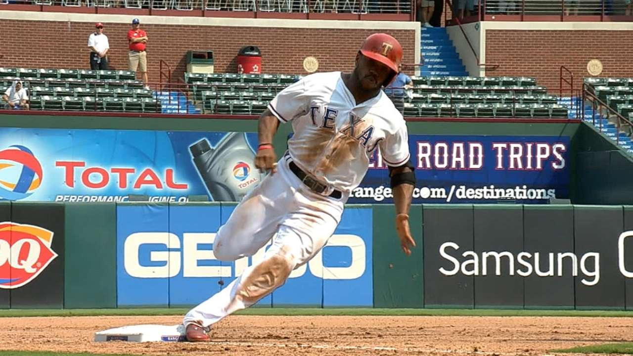 DeShields turns Bautista's error into 'homer'