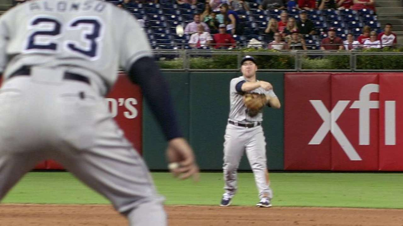 Gyorko's great play at short