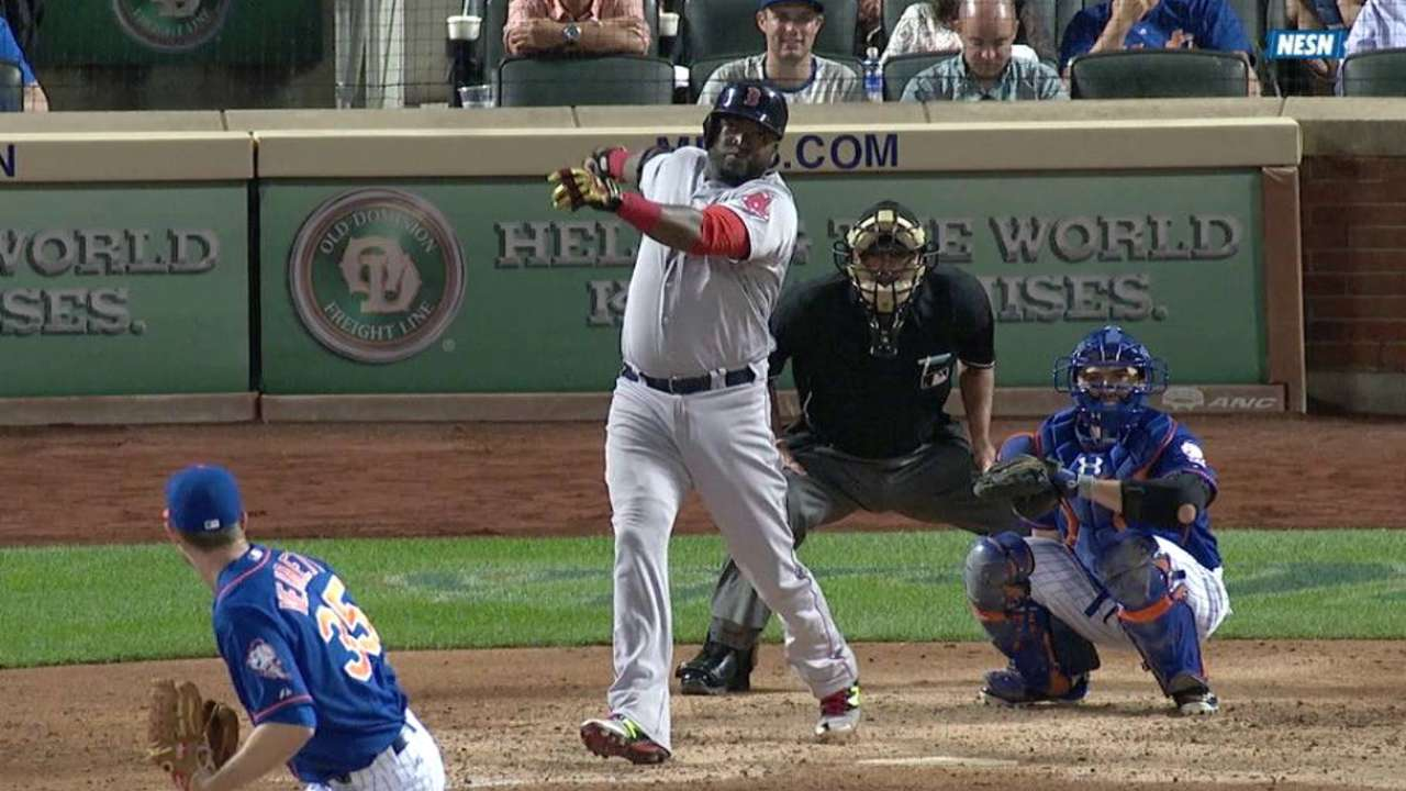Papi doubles off bench, intends to play Sunday