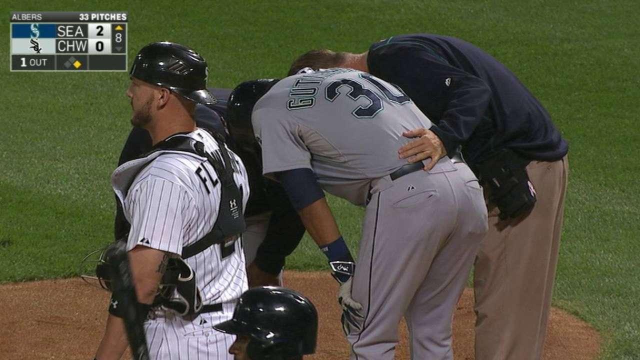 Gutierrez hit in the knee