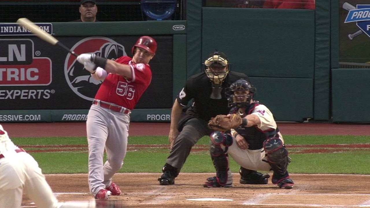 Homers not enough as Angels fall to Tribe
