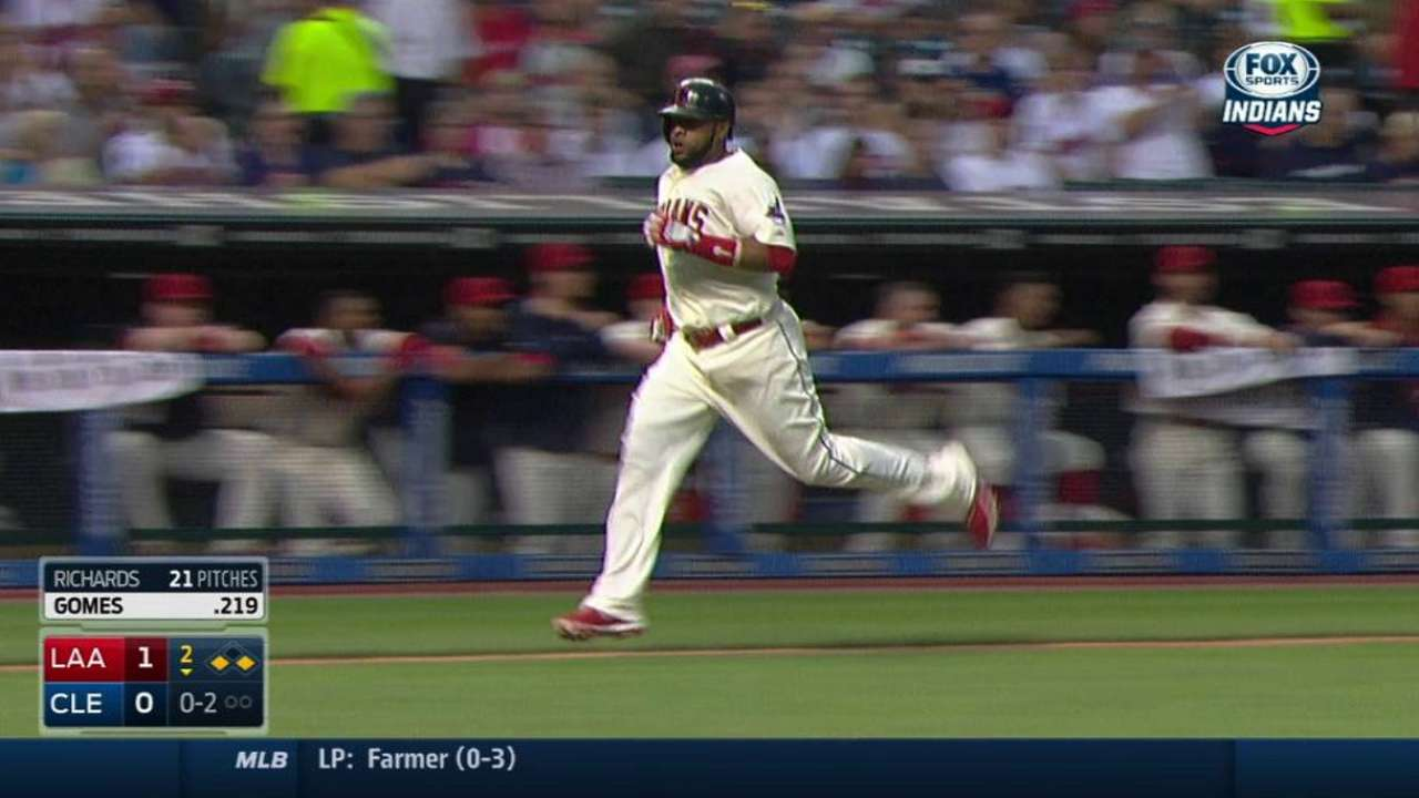 Gomes focuses on defense, but bat warming up