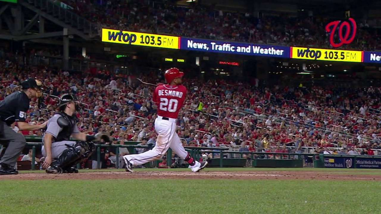 Nationals use tater trio to mash Marlins, gain game