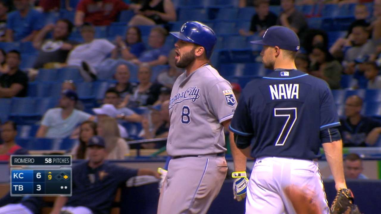 Moustakas shines with bat, glove