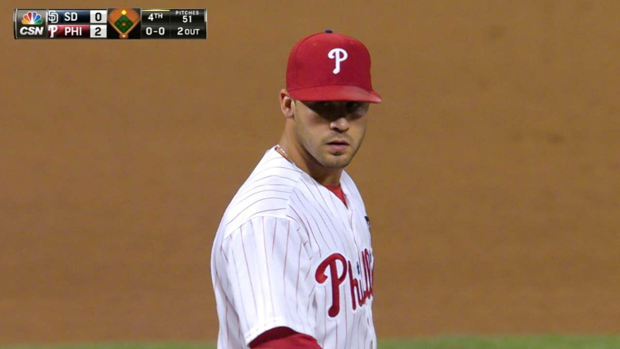 Morgan helps Phillies move to 5-0 vs. Padres