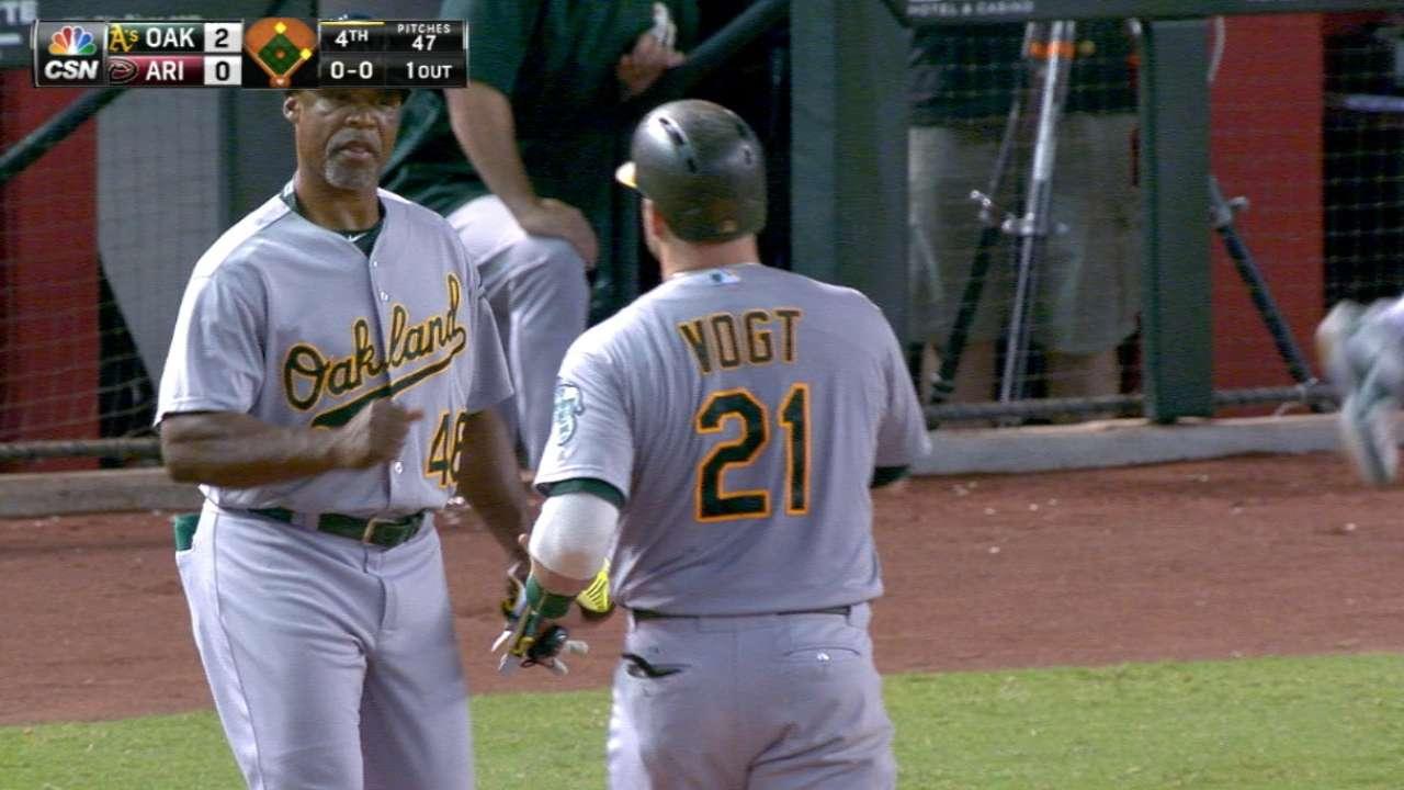 Vogt's three-hit night