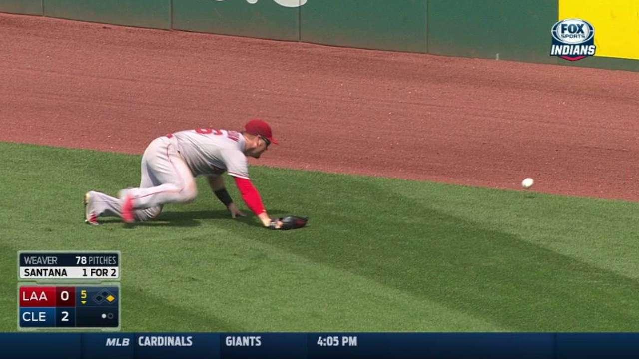 Calhoun loses ball in the sun