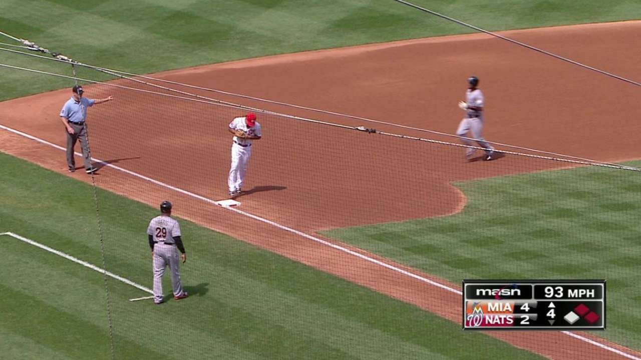 Strasburg wiggles out of trouble