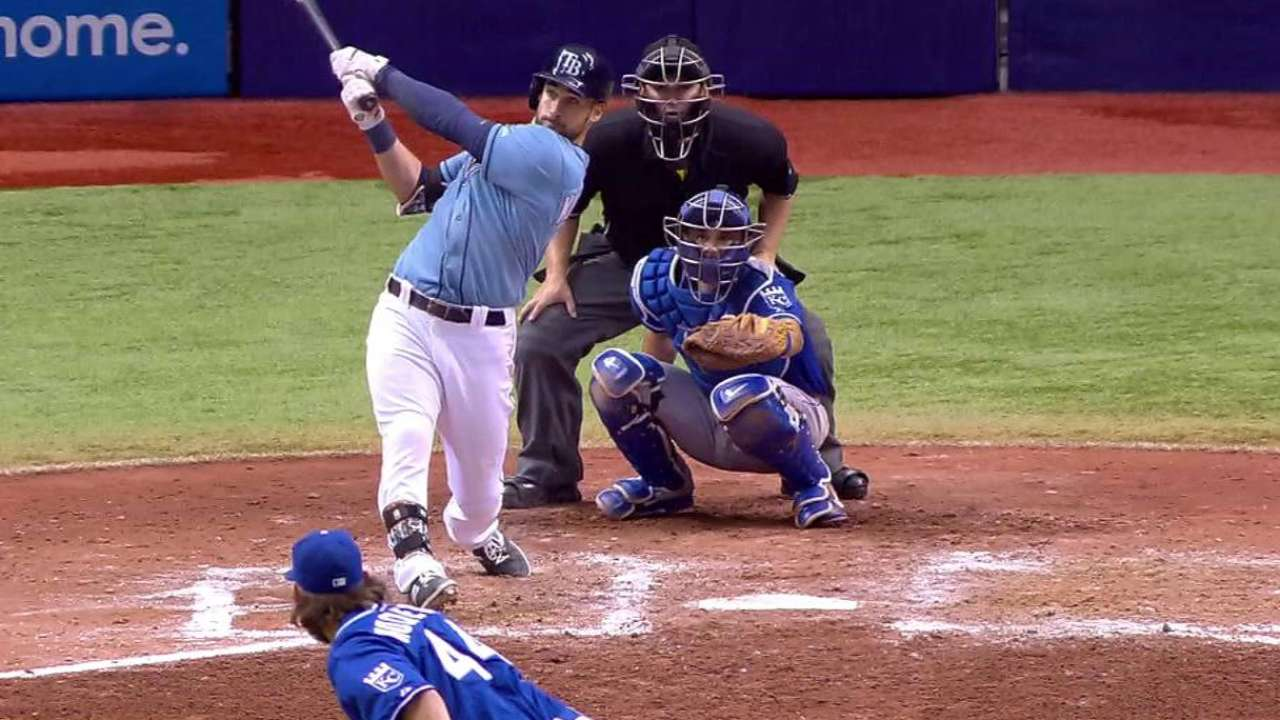 Rays edge Royals on homer by Kiermaier